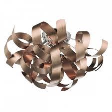 raw0464 rawley 4 light flush ceiling light brushed satin copper