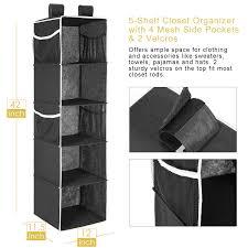 Hanging Closet Organizer MaidMAX 5 Shelf Collapsible Hanging