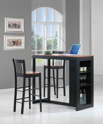 Bar units and bar tables with pub chairs in dining room