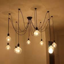 Diy Kreative Decken Spinne Lampen Kronleuchter Höhenverstellbar E27 10heads
