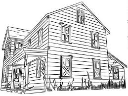 Small Picture House Made from Wood in Houses Coloring Page Color Luna