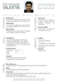 cv template word francais french cv sample french resume resume ideas
