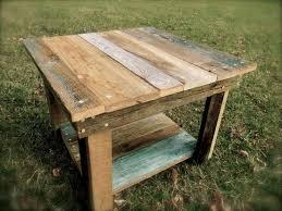 image of rustic barnwood coffee table