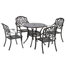 outsunny 5 piece outdoor furniture