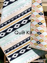 Arizona Quilt Kit, Tribal Baby Bedding Blanket Project, April ... & Arizona Quilt Kit, Tribal Baby Bedding Blanket Project, April Rhodes Art  Gallery Fabrics, Adamdwight.com