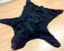 black bear rug polar fur traders canada