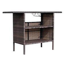 serving bar table wicker rattan patio serving bar counter with storage pottery barn outdoor serving table serving bar table