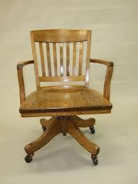 oak office chair on wheels antique wood office chair
