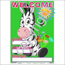 Welcome Chart Zebra
