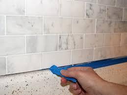 seal marble tile for diy kitchen backsplash