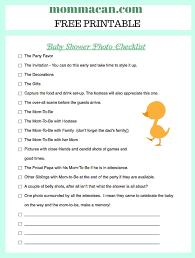 Baby Shower Decoration Checklist Baby Shower Photo Checklist Pdf Momma Can