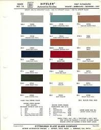 1967 Plymouth Barracuda Valiant Fury Paint Chips R M