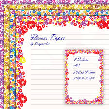 Flower Border Designs For Paper Free Free Border Designs For A4 Size Paper Flowers Download Free
