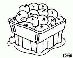 Small Picture Cranberry blueberry fruit or berries in a bowl coloring page