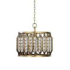 round gold mid century modern cage pendant light drum chandelier white and