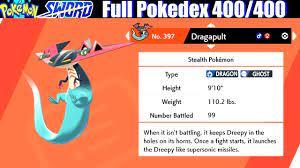 Pokemon Sword & Shield - Full Pokedex / All 400 Pokemon - YouTube