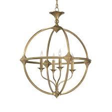 currey company bellario orb antique brass four light chandelier