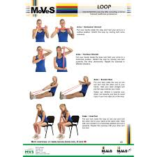 Stretch Band Loops Exercise Chart Msd Band Loop Exercises 2018 Indd