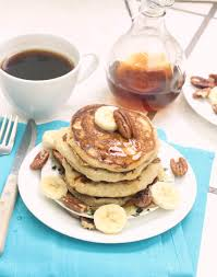 whole wheat almond milk pancakes 110 calories in the entire stack start the morning
