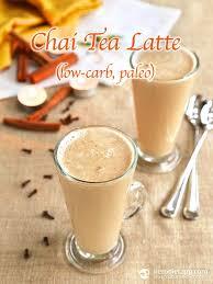 low carb chai tea latte