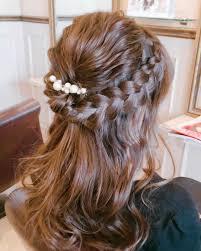 編み込みハーフアップ特集結婚式お呼ばれヘアのやり方をご紹介子供にも
