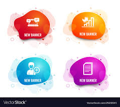 Person Chart Growth Chart Add Person And Internet Chat Icons