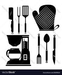 kitchen utensils silhouette vector free. Full Size Of Kitchen Utensils Icon Set Royalty Free Vector Image Home Design Stunning 38 Silhouette