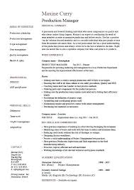 production manager resume doc warehouse supervisor sample  production