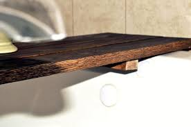 bathtub caddy wood diy