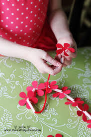 Chart Paper Flower Making Homemade Hawaiian Leis Kid Craft The Crafting Chicks