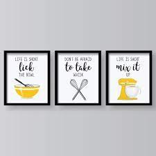 18 pieces of funny kitchen wall art