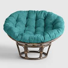 papasan furniture. porcelain micro suede papasan chair cushion furniture world market