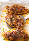 baked chicken breasts on the grill