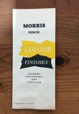 Morris Minor Colours Chart Morris Brochures Morris Car Manuals And Literature For Sale