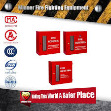 standard size indoor type fire hose reel cabinet
