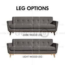marina contemporary designer fabric sofa leg colors available