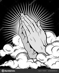 человеческие руки сложенные молитве векторное изображение