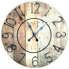 white rustic wall clock oversized decoration large wood clocks distressed wooden extra uk