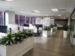 Office desings Green Wall Dividers Constructed Out Of Wood Incorporating Plant Life Access To Natural Light Are All Elements Taking Shape In Todays Office Design Modern Interior Design 2018 Office Design Trends An Eye On Commercial Design Rieke