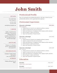 One Page Resume Template Word Simple One Page Resume Template Word Cv One Page Template