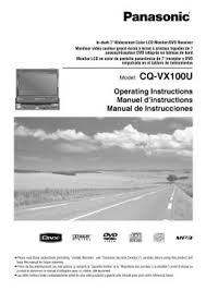 cq vx100u panasonic car in dash 7 inch lcd monitor dvd receiver panasonic cq vx100u wiring diagram at Panasonic Cq Vx100u Wiring Diagram