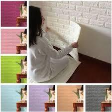 Romantic Warm Room PE Foam <b>3D</b> Wallpaper DIY <b>Wall Stickers</b> ...