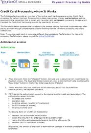 Credit Card Processing Comparison Chart Yahoo Merchant Solutions Order Processing Guide Pdf