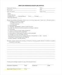 Verbal Warning Sample Printable Written Warning Templates Doc Free Premium Employee Verbal