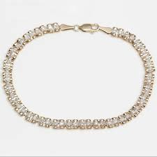 Jewelry   10k <b>Yellow</b> Gold Bracelet With 08 Carat Diamonds ...