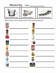 Cooking Measurements Worksheet - Switchconf