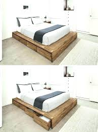 king size bed storage frame base with drawers wooden beds . King Size Bed Storage Frame Free