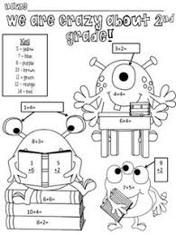 Small Picture Monster Math Freebie for Second Grade reviews 2nd grade math I