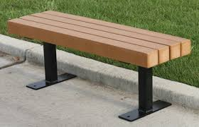 Trailside Park Bench by Jayhawk - Outdoor Park & Recreation ...