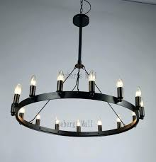 chandeliers iron ring chandelier pottery barn ornate retro industrial loft restaurant round table intended for